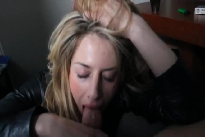 Blonde Sucking Huge Cock